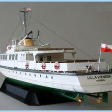 DIY Бумажная модель, 1:100, польский, береговой пароход, Lilla Weneda, сборная ручная работа, 3D игра-головоломка, детская игрушка