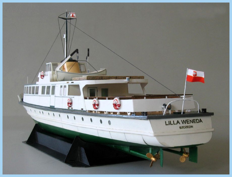DIY Paper Model 1:100 Polish Coast Ferry Ship Lilla Weneda Assemble Hand Work 3D Puzzle Game Kids Toy image