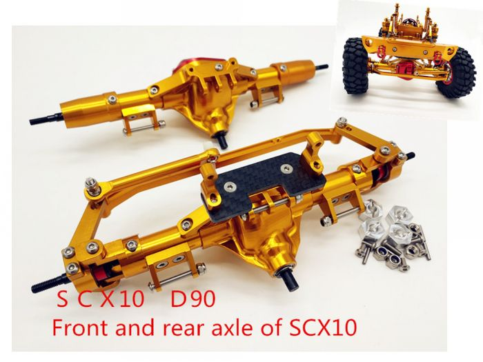 TFL CNC Alloy Front Axle Set For 1:10 Scale RC Crawler AXIAL SCX10 CC01 RC Cars