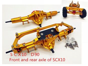 Rc Car Complete Alloy Front And Rear Axle CNC Machined For 1:10 Rc D90 90035  Crawler AXIAL SCX10 RC4WD