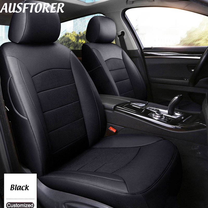 AUSFTORER Cowhide Cover Car Seats For Acura TL Leather