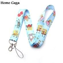 Homegaga Patrick star cartoon 90s vintage lanyards neck straps phones keys cameras id card holders keychain webbing ribbon D1873