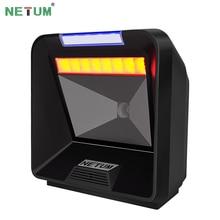 NT-2080 2D / QR Omnidirectional Barcode Scanner Flatbed Desktop Bar code Reader for Store NETUM цены