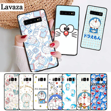 Lavaza Cute Cartoon Blue Robot Cat Silicone Case for Samsung S6 Edge S7 S8 Plus S9 S10 S10e Note 8 9 10 M10 M20 M30 M40