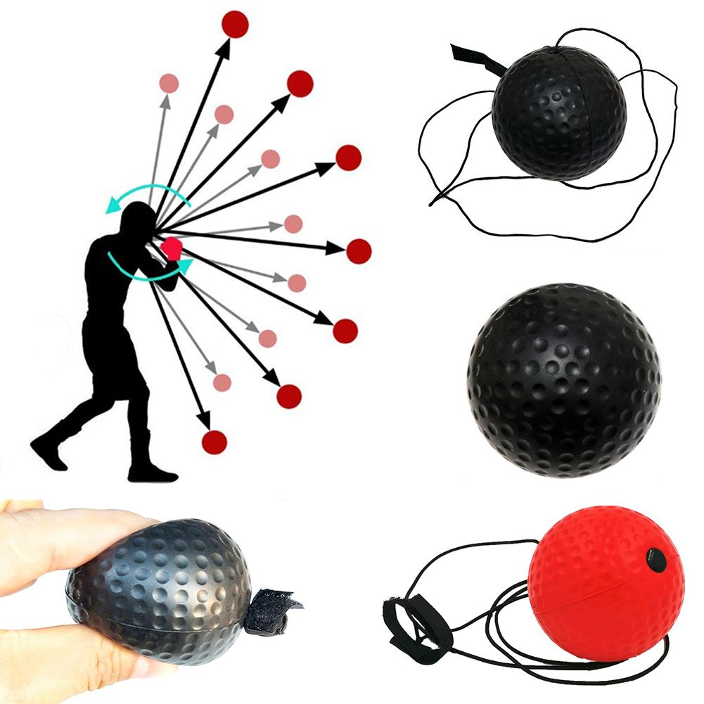 Portable Soft Fighting Punch Muay Thai Bumper Speed Training Boxing Reflex Ball Eye Training Set Stress Boxing Muay Thai Exercis