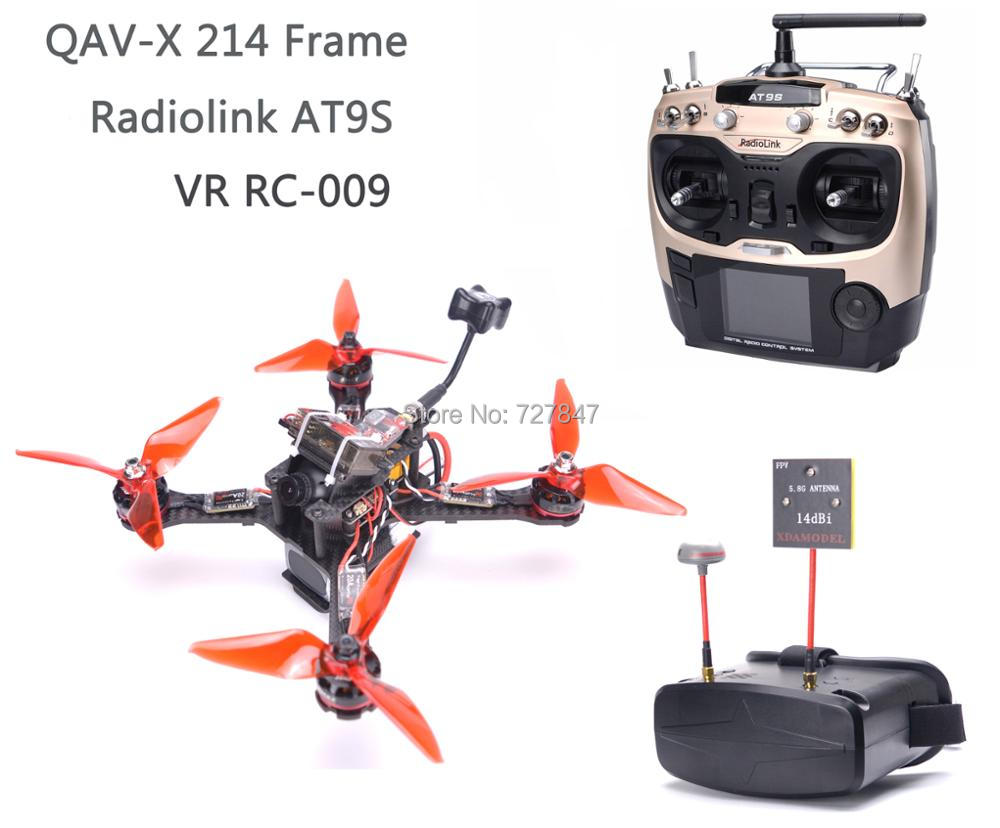 DIY QAV-X 214mm Carbon Fiber F3 Flight Control RS2205 2300kv Favourite FVT LittleBee 30A-S ESC Radiolink AT9S R9DS VR RC-009 qav r 220mm carbon fiber racing drone quadcopte qav r 220 f3 flight controller rs2205 2300kv motor littlebee 20a pro esc blheli