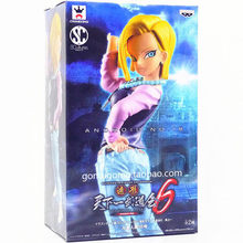 18cm cosplay Dragon Ball Z Android 18 Lazuli PVC Action Collection figures models toys for kids christmas gifts(China)