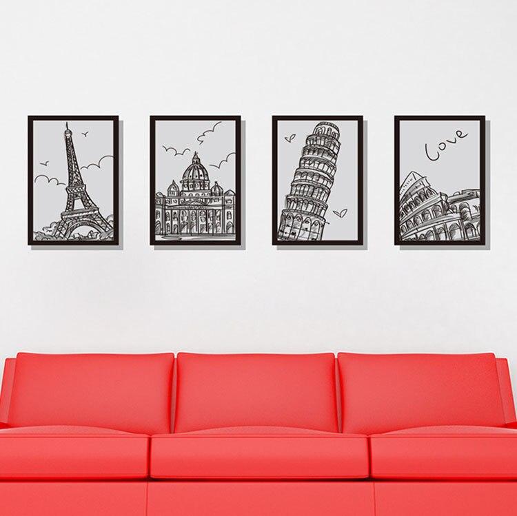 Arquitectura foto Marcos cuatro dibujos Grandes pegatinas de pared ...
