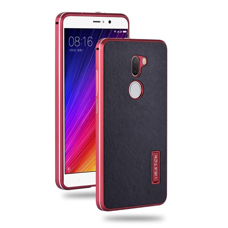 bilder für Super Luxus Xiaomi Mi5s Plus Fall Metallrahmen + Kreuz Muster echtes Leder Abdeckung Für Xiaomi Mi 5 s Plus Harter Shockproof Fällen