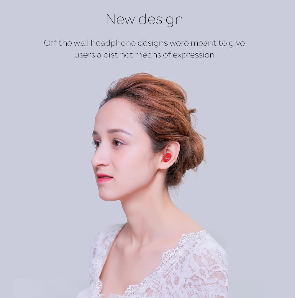 2017 New Dual TWS Q18 Wireless Bluetooth Headset HiFi Bass Earphone with Charging Box Earphones For iPhone 7/8 Xiaomi Smartphone