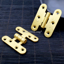 High Quality 2PCS Brass Furniture Hinges Cupboard Wardrobe Drawer Cabinet Smoothly and Mute Door Hinges Furniture Hardware