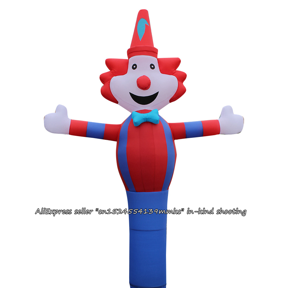 3D Red Blue Clown Air Dancer Sky Dancer Inflatable Tube Clown Dance Puppet Wind Inflatable Advertising Bouncy For 18'' Blower