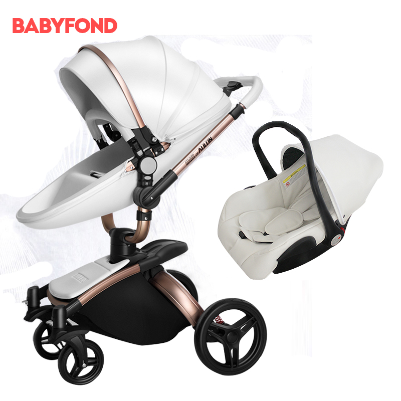 Brand baby strollers with car seat  single baby carriage newborn baby car for 6+baby  without sleeping basket 2 in 1 baby car original hot mum baby strollers 2 in 1 bb car folding light baby carriage six free gifts send rain cover