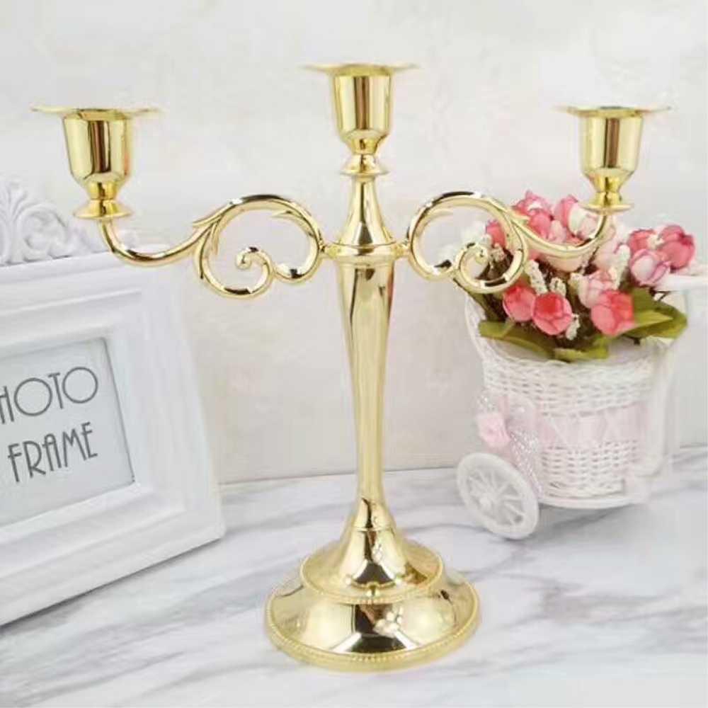 Серебро/золото/бронза/черный 3 оружия металлический столб канделябр, подсвечник Свадебные украшения стенд Mariage домашнего декора канделябры