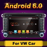 2 din Android 6.0 Car DVD player 2din GPS For VW Golf Jetta Tiguan Touran auto radio Stereo GPS Navi Quad 4 core
