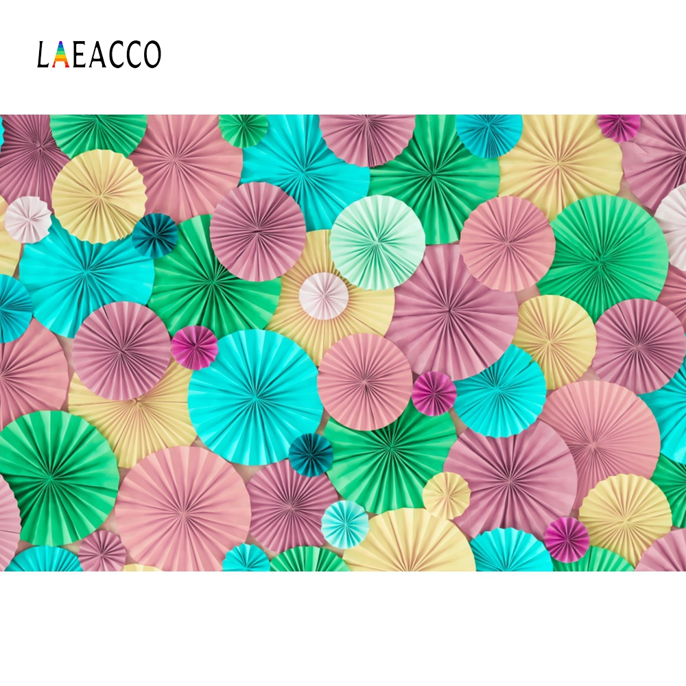 Laeacco Handmade Flowers Wall Party Decor Baby Photography Backgrounds Custom Vinyl Photographic Backdrops For Photo Studio
