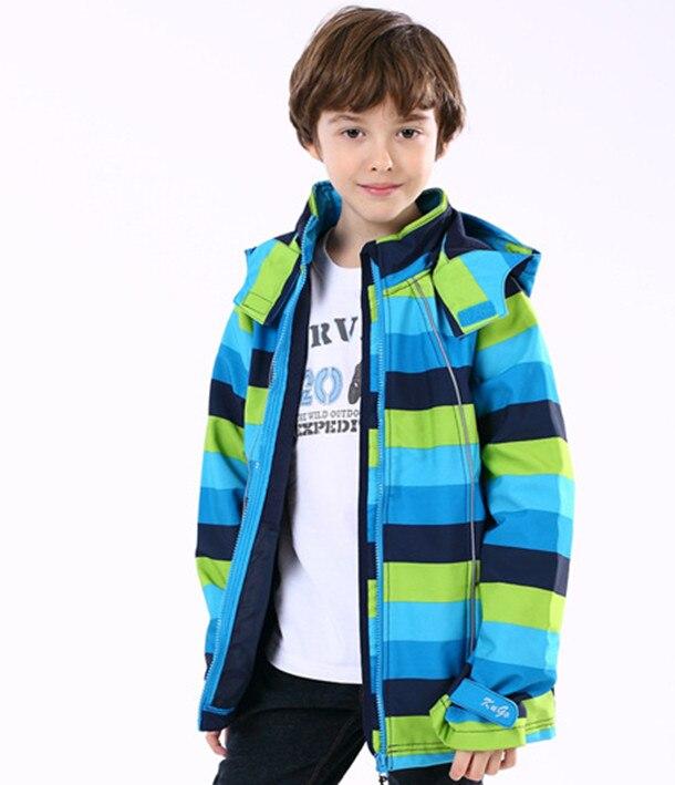 2018 Propagace Pravidelné Nové Dětské oblečení Venkovní Soft Shell Fleece Jacket Vodotěsné Prodyšné Chlapci Teplé a Pohodlné