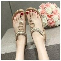 SIKETU Summer Flat Sandals Ladies Bohemia Beach Flip Flops Shoes Gladiator Women Shoes Sandles Platform Clip
