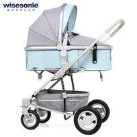 Высокая Пейзаж Детские коляски, резиновые колеса Детские коляски, дети могут сидеть может лежать маленьких корзину с хорошим надежная защи