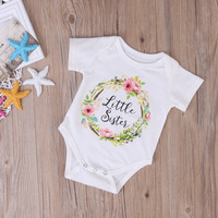 Cute baby girl little big sister match clothes hot toddler floral jumpsuit kids print outfits .jpg 200x200
