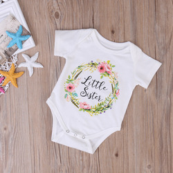 Cute baby girl little big sister match clothes hot toddler floral jumpsuit kids print outfits .jpg 250x250