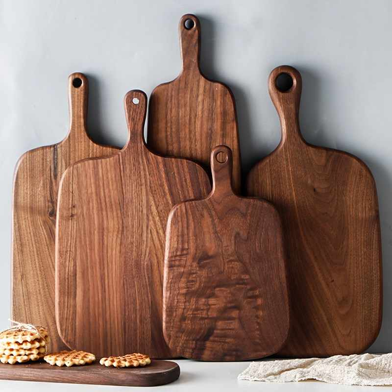 Kitchen Wooden Chopping Blocks Beech Walnut Pizza Bread Fruit Hangable Cutting Board Durable Non-slip Kitchen Tools Accessories