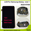 "1 unids Negro o Blanco 5.3 ""pantalla lcd n7000 nota1 touch pantalla digitalizador asamblea con marco para el samsung galaxy note 1 i9220"
