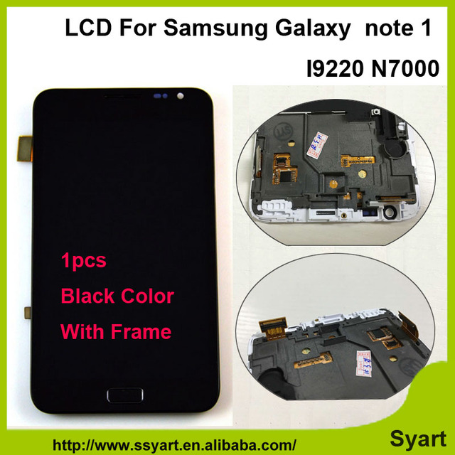 "1pcs Black or White  5.3"" LCD display N7000 note1 touch screen digitizer assembly with frame For Samsung Galaxy Note 1  i9220"