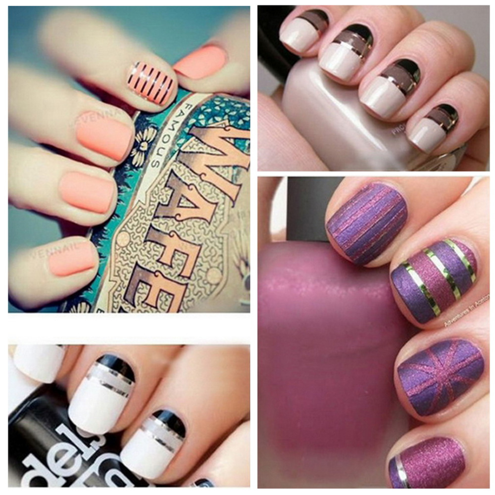 2017 New Fashion Colors Nail Rolls Striping Tape Line Diy Art Tips Decoration Sticker