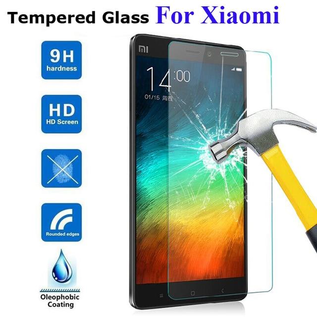 EKDME 9 H Pantalla de vidrio templado película protectora para Xiaomi Redmi 5A 3 4A 3 S 3Pro 3X para Redmi Note 3 pro 2 Mi4 Mi4C Mi5 Mi4i
