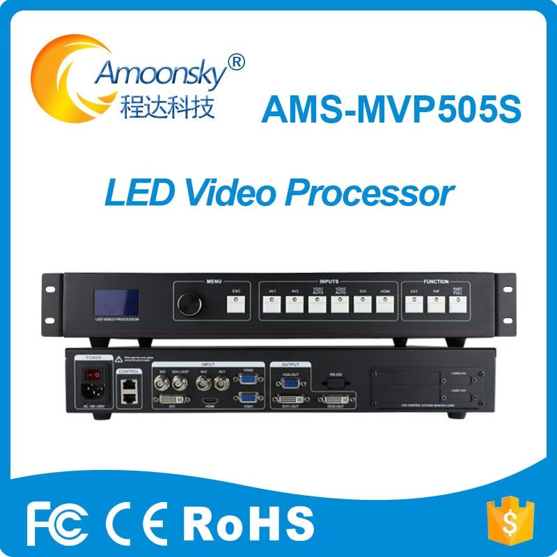 Bas prix led signe affichage contrôleur de mur vidéo sdi vidéo contrôleur vga mur processeur mvp505s soutien écran couleur large