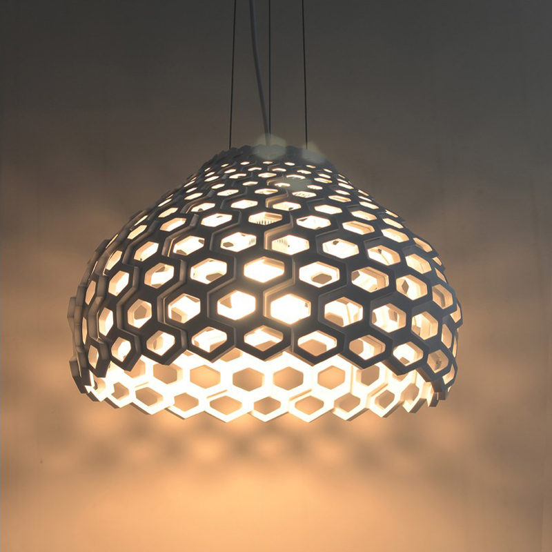 honeycomb E27 40cm Modern White pendant lights brief pendant light lamp lighting dining room pendant lamps FG867