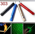 Powerful 303 Green red Laser Pointer Pen Adjustable Focus 532nm Lazer Burning Beam 4 colors