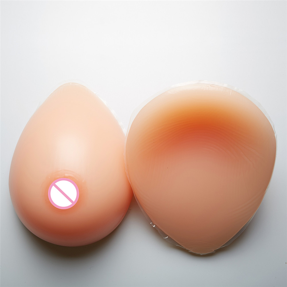 1600g/Pair Classic Tear Oval Silicone Breast Forms Drag Queen Crossdresser Shemale Fake Boobs With Natural Textured Nipple1600g/Pair Classic Tear Oval Silicone Breast Forms Drag Queen Crossdresser Shemale Fake Boobs With Natural Textured Nipple