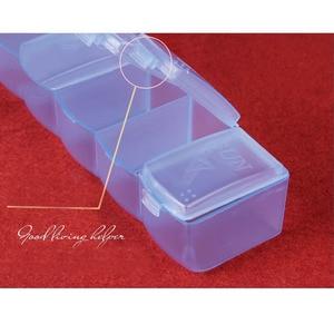 Image 3 - 휴대용 알 약 상자 7 긴 스트립 투명 알 약 상자 7 구획 저장소 상자 주 알 약 다기능 가정용 제품 qw104