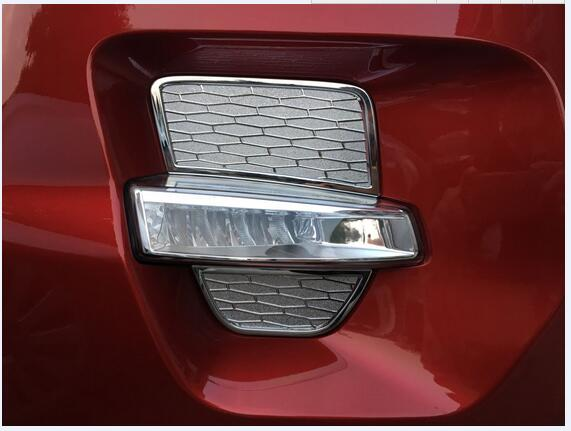 ABS chrome Front Fog Lamp Light Cover Trim Car Accessories Sticker Garnish For Land Rover Range