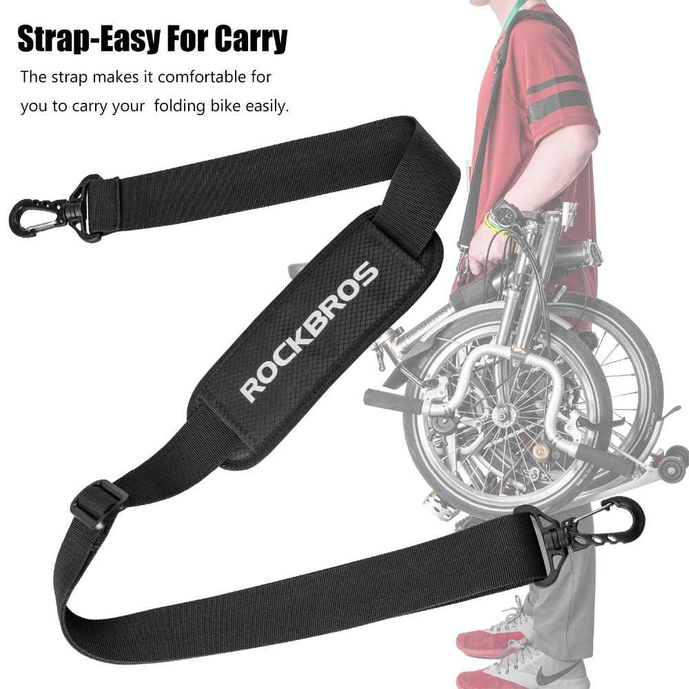 ROCKBROS Brompton Shoulder Strap Child Bicycle Folding Bikes Frame Carry Handle With Hardware Bikes Kick Scooter Carrying Strap