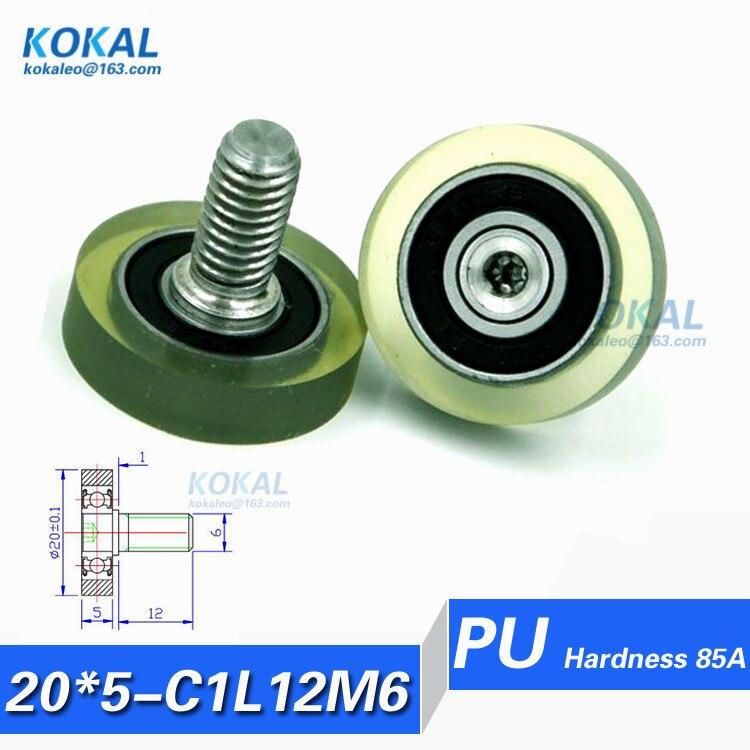 PU20 5 C1L12M6 Free Shipping 10pcs high quality stainless steel screw M6 OD 20mm TPU