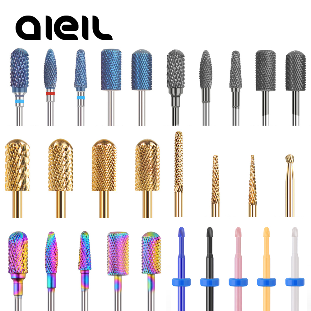 Ceramic Milling Manicure Machine Carbide Nail Drill Bits Ceramic Carbide Milling Cutters For Manicure Nail Drill Machine Bits