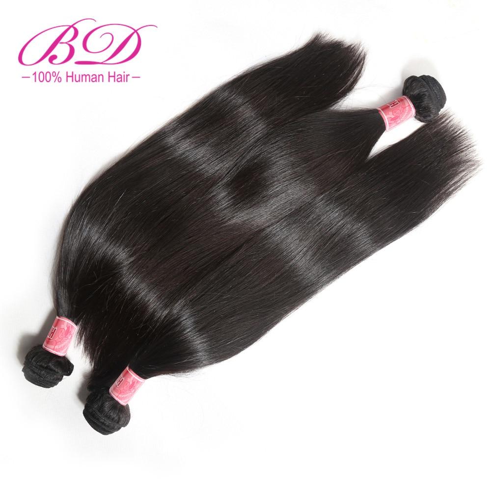 BD HAIR Brazíliai hajszövés kötegek egyenes emberi haj Remy 1Pc / tétel természetes szín festék nélküli szállítás