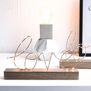 Home Decorative Table Lamp LED Lamp Light Bedroom Living Room Loving Figurines Romantic illumination Ornaments