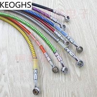 Motorcycle Brake Pipe Tubing Brake Hose Line 400mm To 2200mm 8 Color Universal Fit Atv Dirt