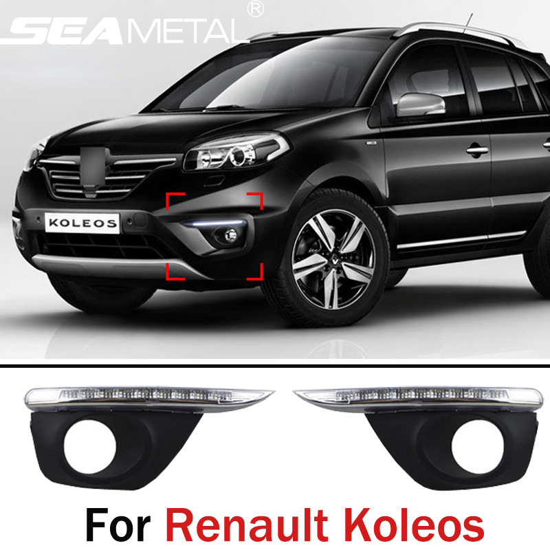 Car DRL For Renault Koleos 2011 2012 2013 2014 2015 LED Car Daytime Running lights Auto Lamps for Car-styling Auto Accessories 10 led car styling drl for kia k2 rio 2011 2012 2013 2014 daytime running lights high quality free shipping