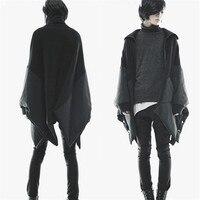 Тренч пальто мужской зимний Тренч средней длины траншеи мужской плащ верхняя одежда мужской