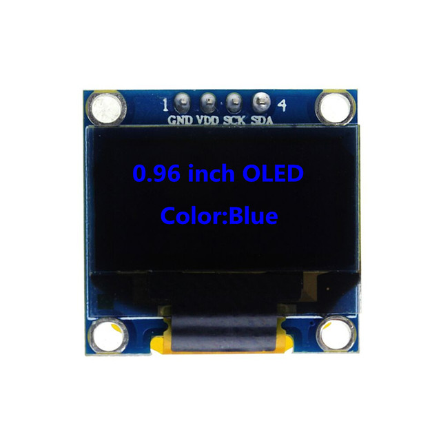 0.96 inch 128X64 Blue OLED Display Module IIC SPI Communicate for arduino Diy Kit