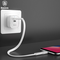 Baseus 30W PD Quick Charge Charger For IPhone X 8 USB TYPE C Charger UK Plug