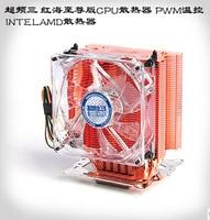 Pure Copper 4pin PWM 3 Heatpipe For Intel LGA775 115x 1366 2011 For AMD 939 AM3