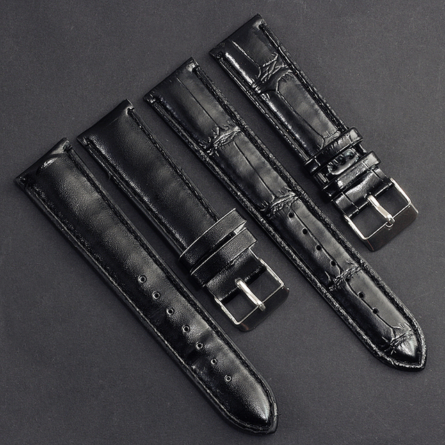 6 Color Fashion Simple Black Brown White Blue Slub Pattern Leather Strap 20mm Me