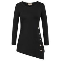 Kate Kasin Tee Shirts Autumn Women Fashion Tops Ladies Black Grey Long Sleeve Asymmetric Basic Casual Tee shirt 2017 New Arrived