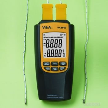 VA8060  Thermometer Thermocouple with 2 Probes Temp